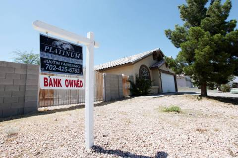 Las Vegas' foreclosure rate was above the national average in 2019 but fell to its lowest poi ...