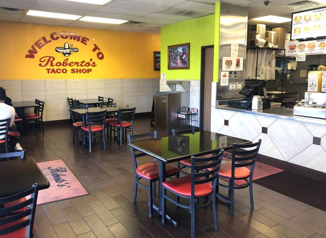 The first Roberto's Taco Shop in Las Vegas opened in 1990 and will close on Jan. 31, 2020. (Rob ...