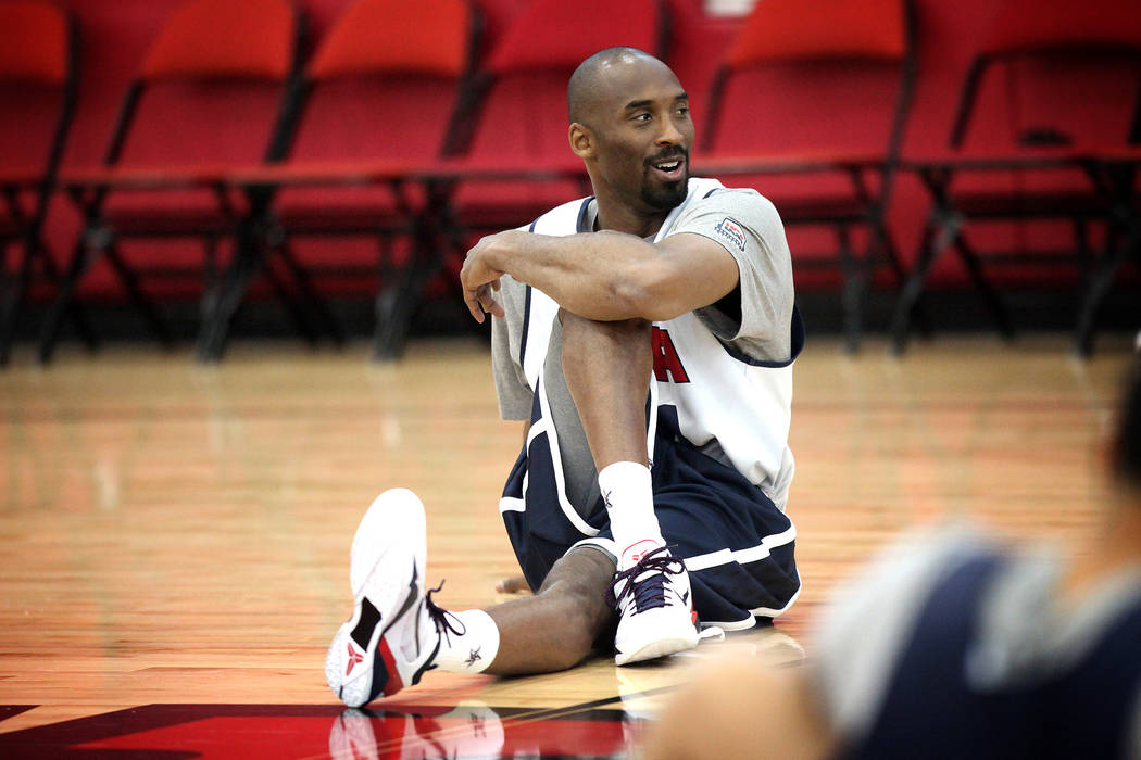 2012 USA Basketball Men's National Team player Kobe Bryant shoots during practice at the Menden ...