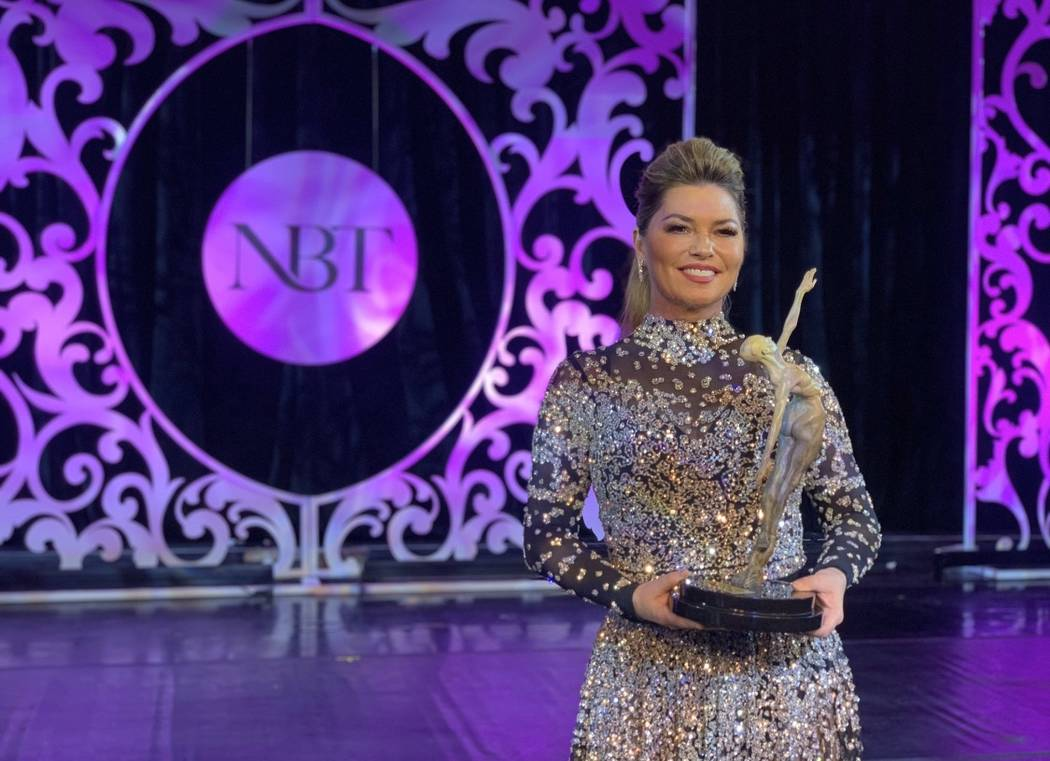 Shania Twain is shown at the Nevada Ballet Theatre's Black & White Gala on Saturday, Jan. 25, 2 ...