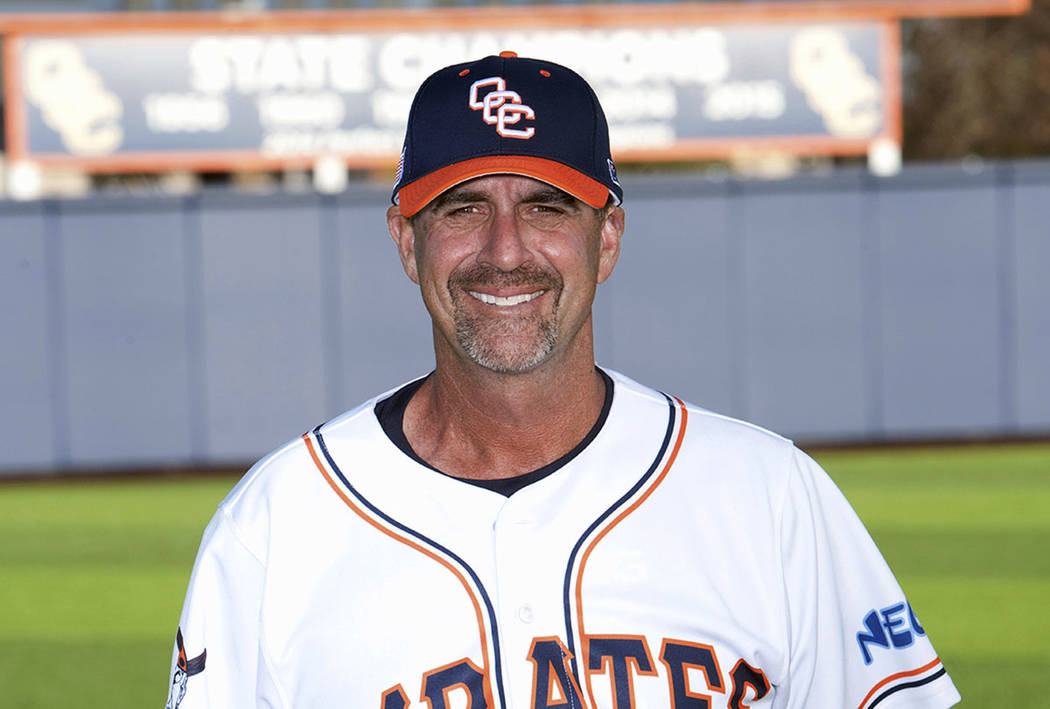 Orange Coast College head baseball coach John Altobelli (Orange Coast College via AP)