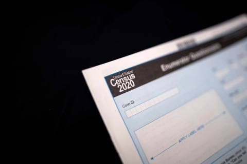 A Census 2020 form is seen Tuesday, Jan. 21, 2020, in Toksook Bay, Alaska. (AP Photo/Gregory Bull)