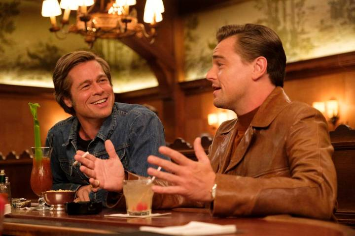 """Brad Pitt and Leonardo DiCaprio star in """"Once Upon a Time in Holywood."""" ONCE UPON TIME IN HOLLY ..."""
