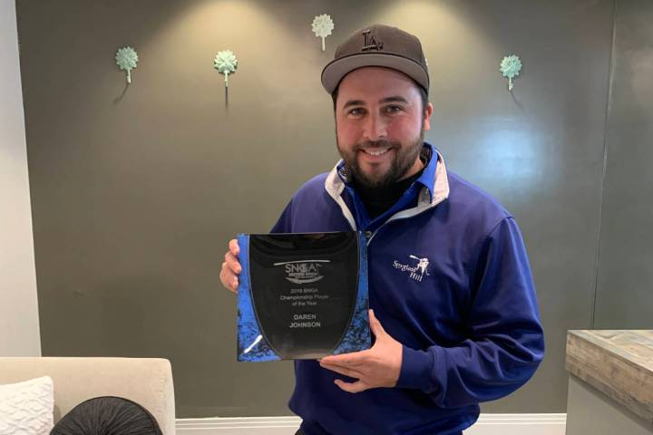 Daren Johnson, the 2019 Southern Nevada Golf Association championship division player of the ye ...