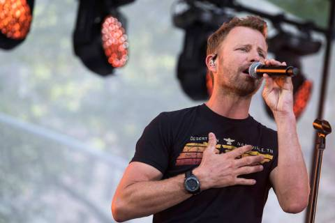 In this Aug. 1, 2019 file photo, country music Dierks Bentley performs on NBC's Today show at R ...