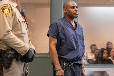 Murder suspect Gary Walker appears in court at the Regional Justice Center on Thursday, Feb. 6, ...