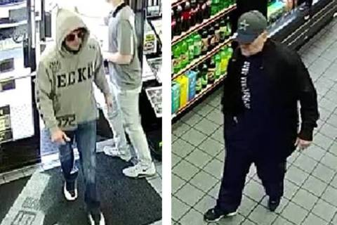 Police are seeking two men in connection to an armed robbery Thursday, Jan. 30, 2020, at Speede ...