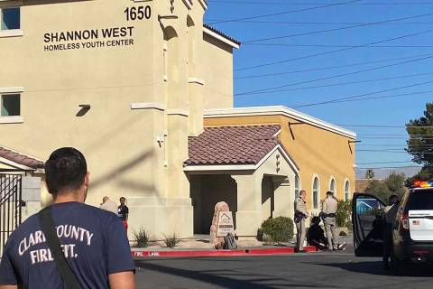 Las Vegas police investigate a reported stabbing at a homeless youth center on Friday morning. ...