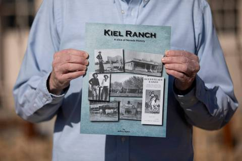 Jeff Alpert holds his new book, Kiel Ranch: A slice of Nevada history, on Thursday, Jan. 16, 20 ...