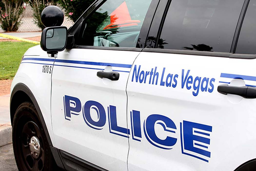 A North Las Vegas police vehicle. (Michael Quine/Las Vegas Review-Journal)