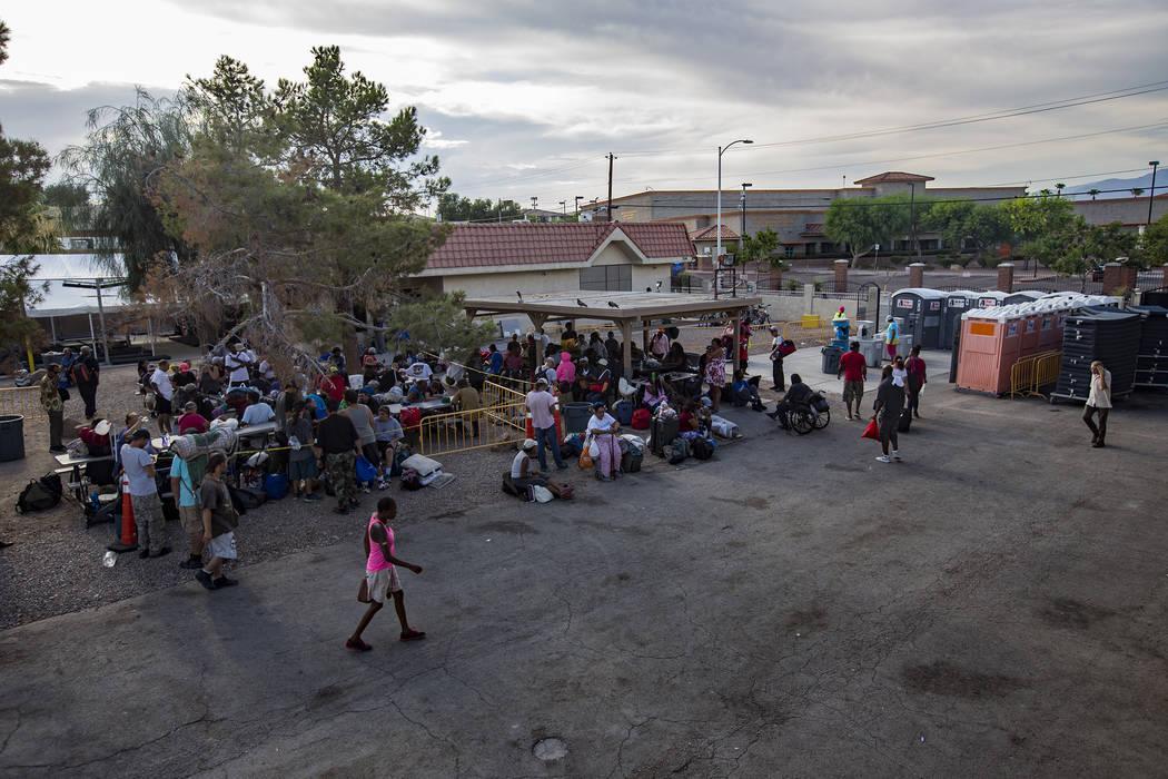 The Courtyard Homeless Resource Center in Las Vegas. (Rachel Aston/Las Vegas Review-Journal) @r ...