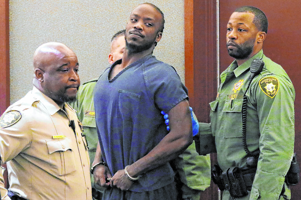 Durwin Allen, charged in the killings of Myron Manghum, 33, and Alyssa Velasco, 27, appears in ...