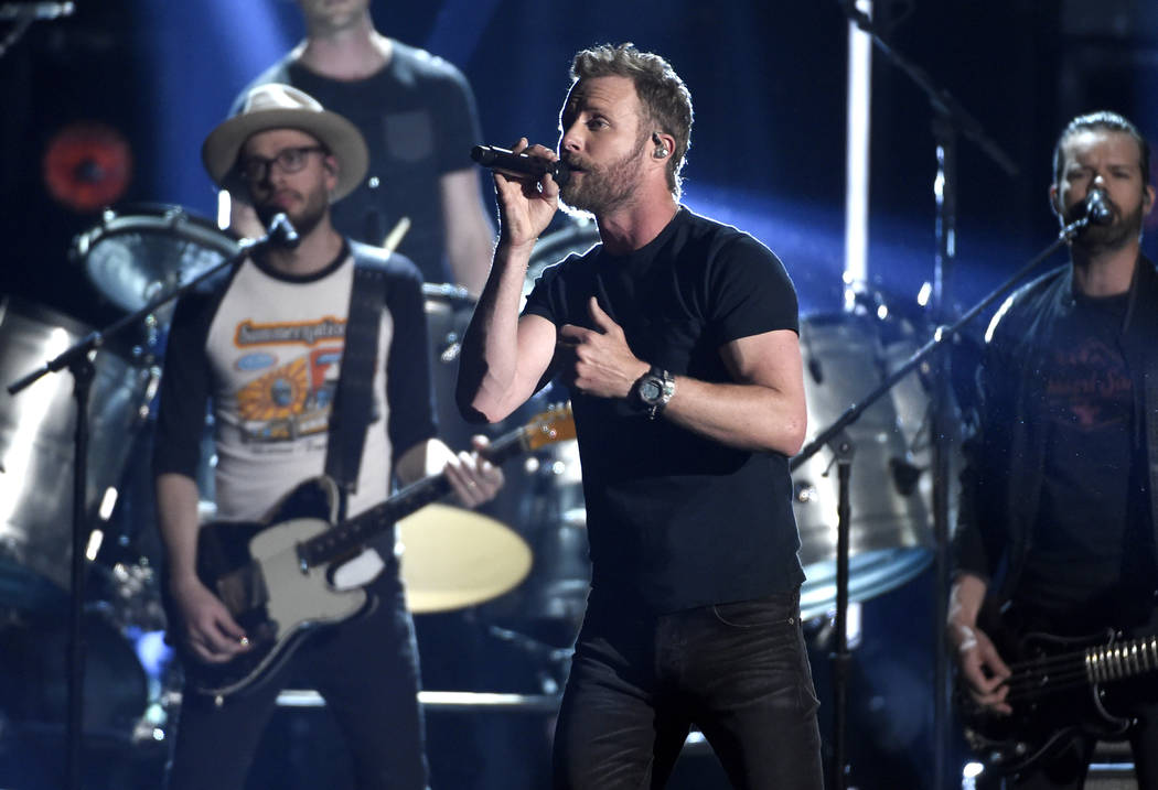 """Dierks Bentley performs """"Woman, Amen"""" at the 53rd annual Academy of Country Music Awa ..."""