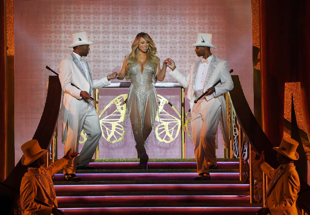 Mariah Carey starts another round of shows at Caesars Palace on Friday, Feb. 14, 2020. (Denise ...
