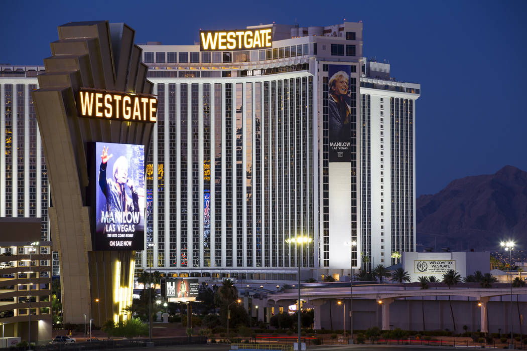 The Westgate hotel-casino in Las Vegas on Thursday, June 21, 2018. (Review-Journal file photo)