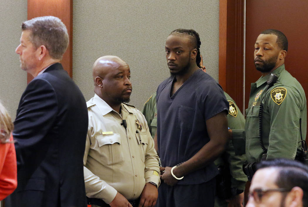 In this Feb. 4, 2020, file photo, Durwin Allen, charged in the killings of Myron Manghum, 33, a ...