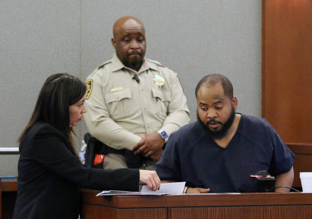 Prosecutor Danielle Pieper questions Johnny Brooks, the lone surviving victim of a shooting tha ...