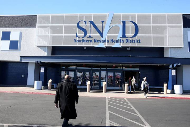 The Southern Nevada Health District at 280 S. Decatur Blvd. in Las Vegas Wednesday, Jan. 2, 201 ...