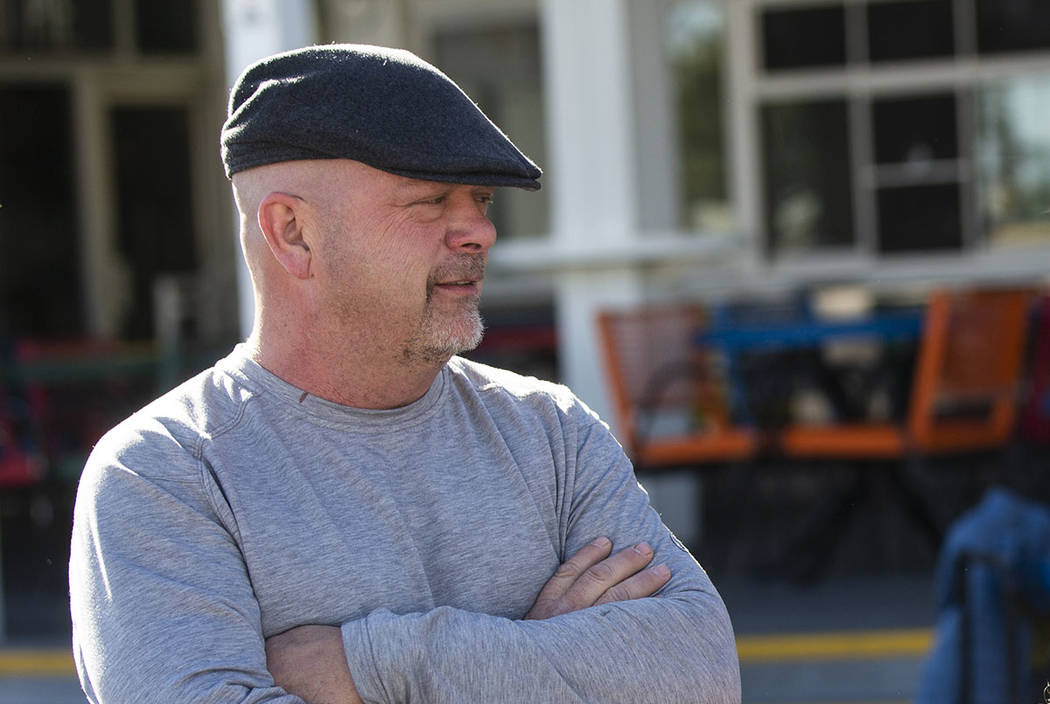 Rick Harrison is seen outside of the Gold & Silver Pawn in downtown Las Vegas on Saturday, Jan. ...