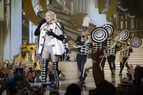 "Gwen Stefani is shown during her ""Just A Girl"" production at Zappos Theater at Planet Hollywood ..."