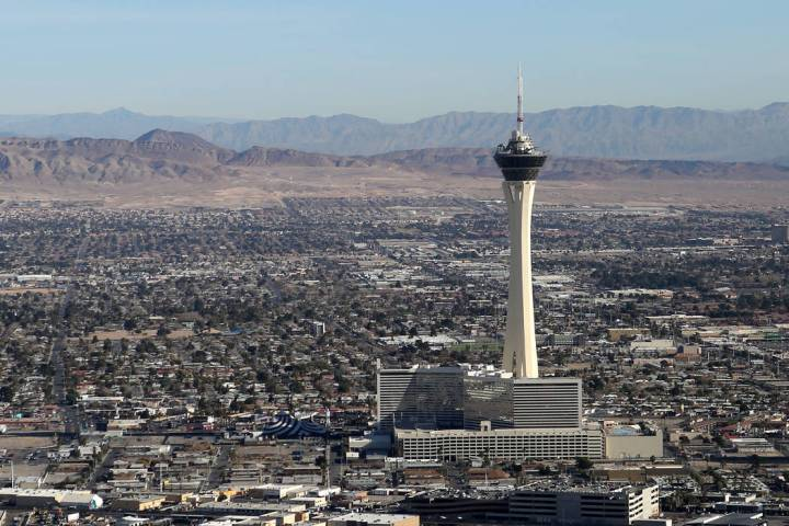 The forecast high for Las Vegas on Friday, Feb. 14, 2020, is 67 degrees with sunny skies and li ...