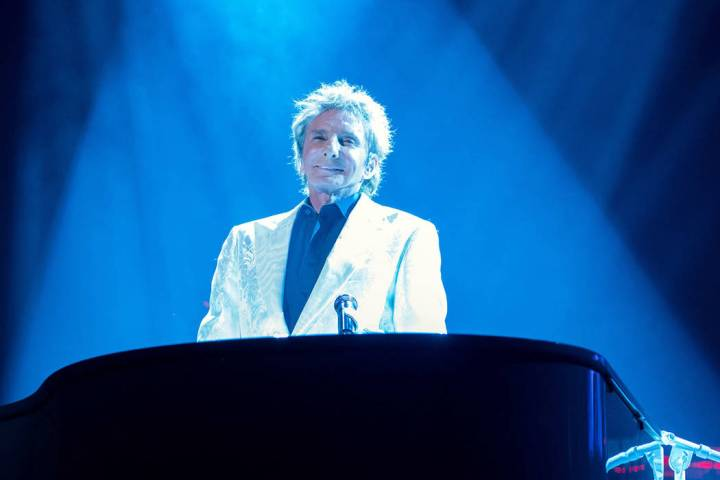 Barry Manilow is shown on Valentine's Day at International Theater at Westgate Las Vegas as he ...