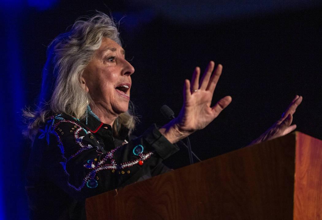 U.S. Rep. Dina Titus, D-Nev., speaks during the Clark County Democrats Kick Off to Caucus Gala ...