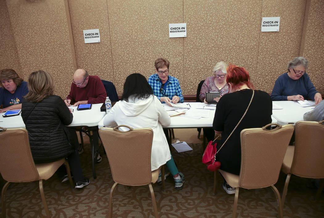 Volunteers, from left, Nancy Adams, David Chess, 76, Diane Askwyth, Jamie Shay and Ramonda Hayc ...