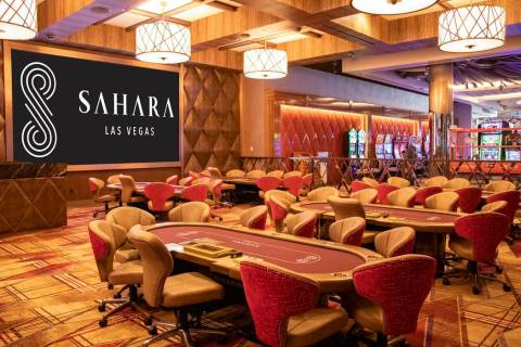 The Sahara's new poker room will have a grand opening Friday, Feb. 21. (Courtesy, Sahara Las Vegas)