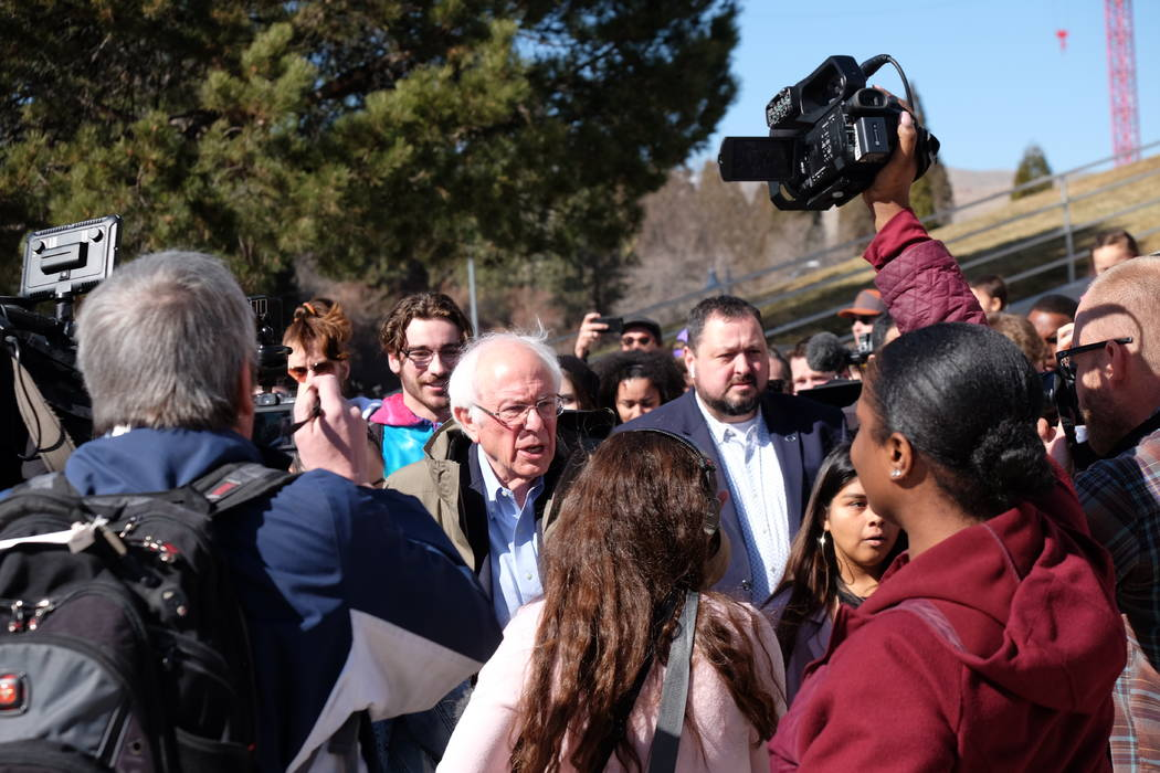 Presidential candidate Sen. Bernie Sanders of Vermont made his last scheduled appearance in nor ...
