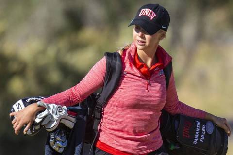 UNLV women's golf junior Samantha Fuller finished 6th at the Rebel Beach at Spanish Trail Count ...