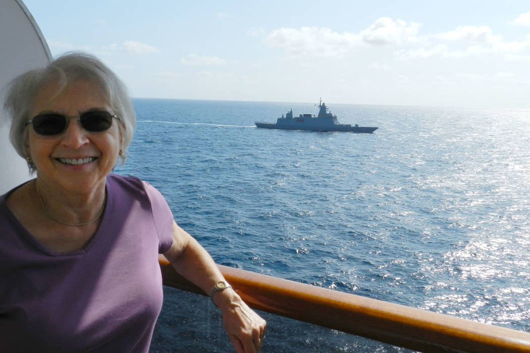 Henderson resident Paulette Schaeffer is seen on the MS Westerdam during a cruise. (Photo by Jo ...