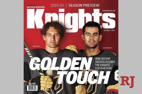 Review-Journal Golden Knights season preview magazine, Oct. 2, 2019.