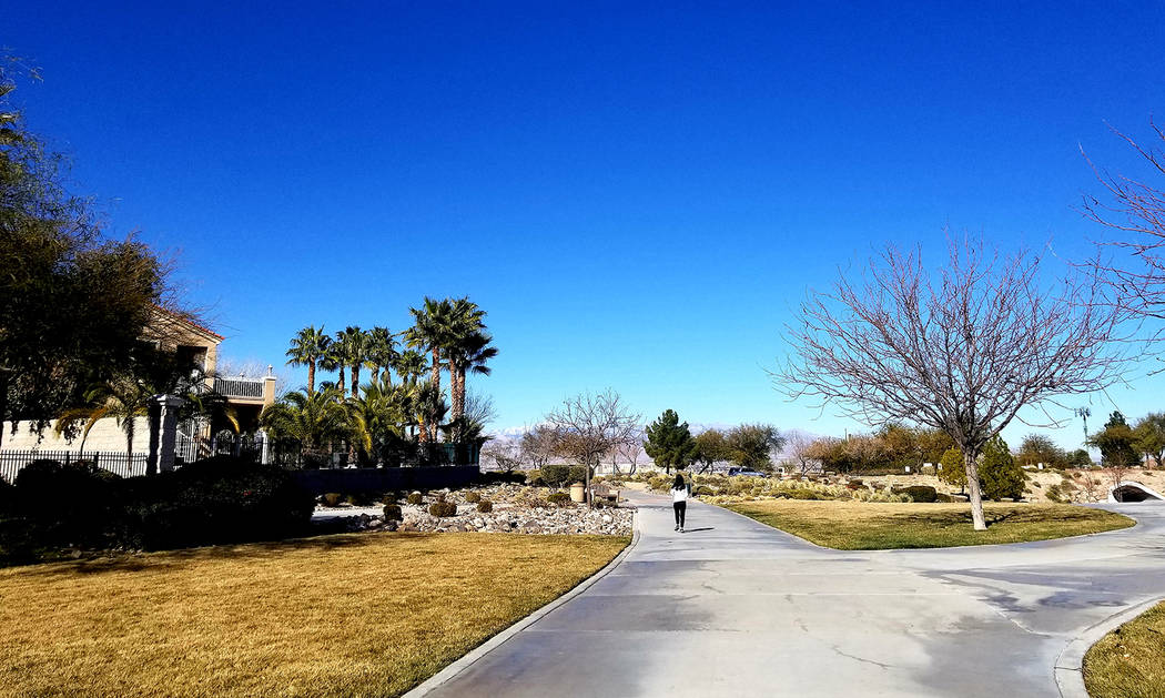 Sonata Park is in view at the end of a multi-use flood control structure designed to help manag ...