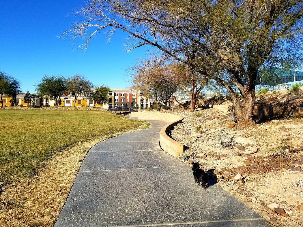 Vivaldi Park offers bird's-eye views of Henderson Executive Airport and the Raiders' practice s ...