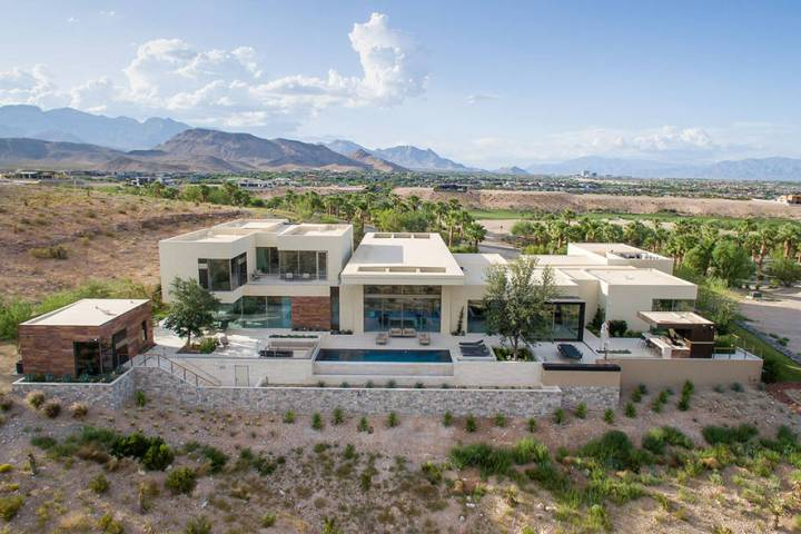 This mansion is in the exclusive luxury community, The Summit, in Summerlin. (Stephen Morgan)