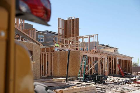 Construction is done on a home in Cadence, a master-planned community in Henderson on Friday, F ...
