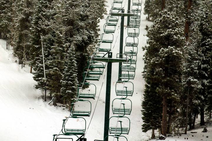 The Lee Canyon ski resort at Mt. Charleston (L.E. Baskow/Las Vegas Review-Journal)