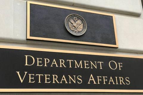 Washington DC/USA Mar 25 2019/Signboard of United States Department of Veterans Affairs(VA).The ...