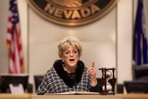 Las Vegas Mayor Carolyn Goodman. (Benjamin Hager/Las Vegas Review-Journal)