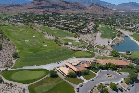 Aerial photo of the clubhouse at Bear's Best Las Vegas golf course on Thursday, June 13, 2019. ...