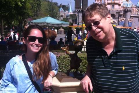 Daniel Scully with his niece Keri Greenspan at Disney World in 2013. (Cissy Greenspan)