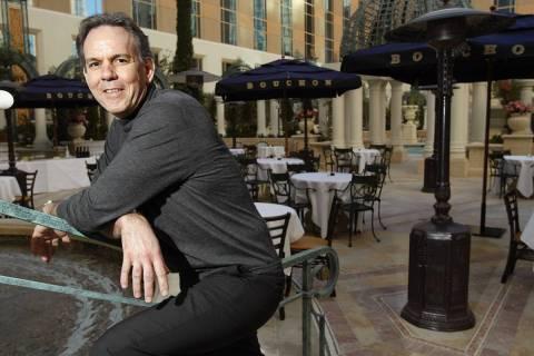 Chef Thomas Keller poses for a portrait at Bouchon in the Venetian in Las Vegas Thursday, Jan. ...