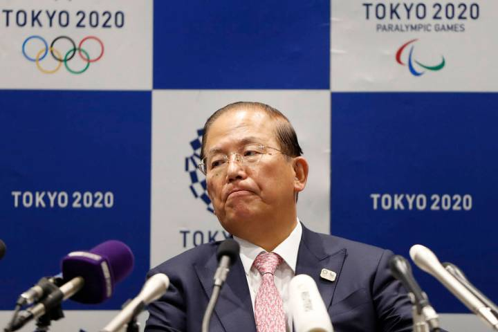 Tokyo 2020 Organizing Committee CEO Toshiro Muto attends a news conference after a Tokyo 2020 E ...