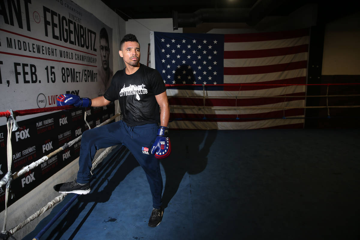 Rahim Gonzales poses for a portrait at City Boxing Club in Las Vegas, Friday, Feb. 28, 2020. Go ...