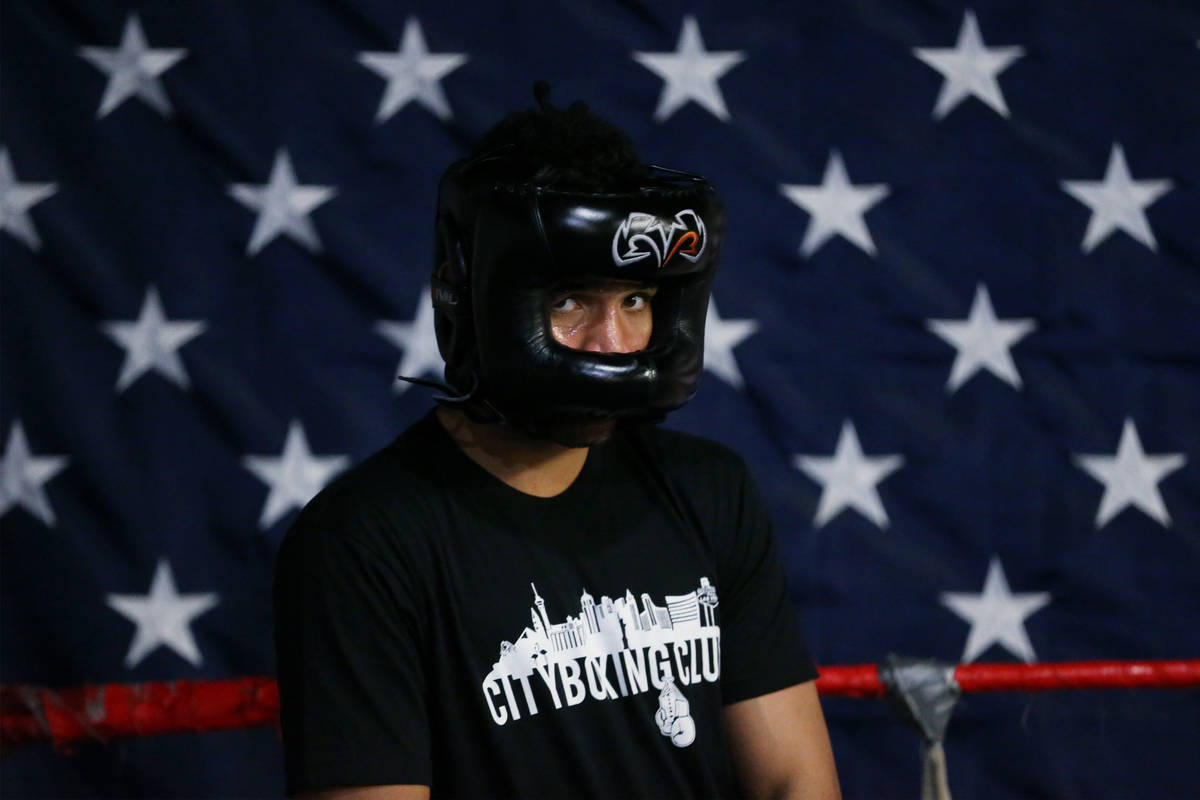 Rahim Gonzales at City Boxing Club in Las Vegas, Friday, Feb. 28, 2020. Gonzales is seeking a b ...