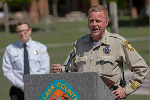 Las Vegas Police Undersheriff Kevin McMahill outlines the police department's role in the ongoi ...