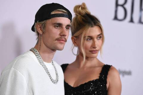 "Justin Bieber and Hailey Baldwin arrive at the Los Angeles premiere of ""Justin Bieber: Sea ..."
