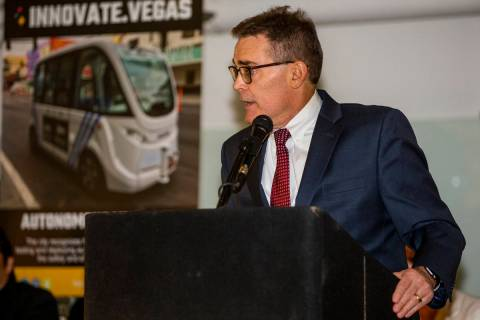 City of Las Vegas Manager Scott Adams in a Wednesday, Sept. 25, 2019, file photo. (L.E. Baskow/ ...