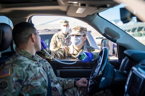 Staff Sgt. Jennifer Nunes, a health care specialist assigned to the Northern Nevada Medical Det ...